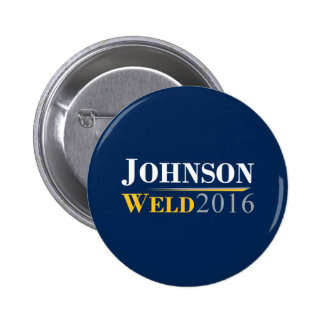 Gary Johnson - Bill Weld 2016 Campaign Logo 6 Cm Round Badge