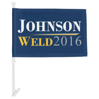 Gary Johnson - Bill Weld 2016 Campaign Logo Car Flag