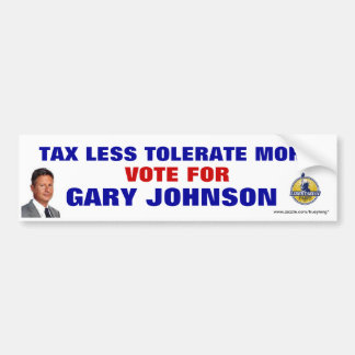 GARY JOHNSON BUMPER STICKER
