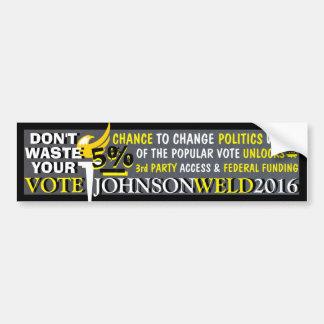 Gary Johnson / Don't Waste Your Vote! Bumper Sticker