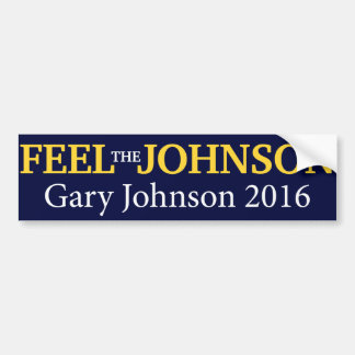 Gary Johnson - Feel The Johnson Bumper Sticker