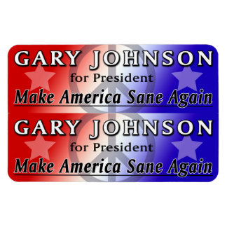 Gary Johnson for President 2x6 Flexi Magnets