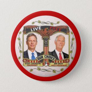 Gary Johnson / Jim Gray in 2012 7.5 Cm Round Badge