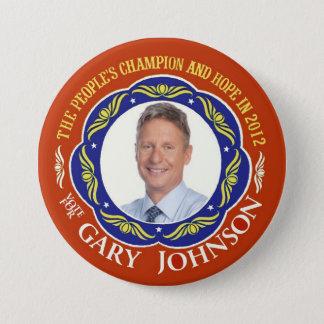 Gary Johnson Libertarian for President 2012 7.5 Cm Round Badge