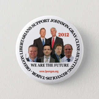 Gary Johnson Oregon Libertarians 6 Cm Round Badge