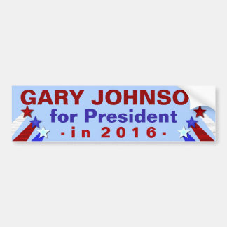 Gary Johnson President 2016 Election Libertarian Bumper Sticker