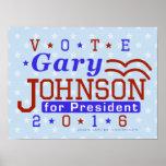 Gary Johnson President 2016 Election Libertarian Poster