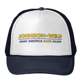 Gary Johnson / Weld Sane America Libertarian Hat