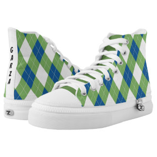 Garza Green Stripe Shoes