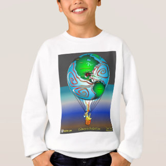 Gas Can Canary in Map Blimp Sweatshirt