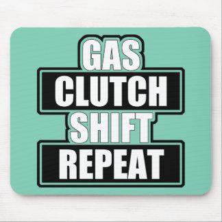 Gas Clutch Shift Repeat Mousepad