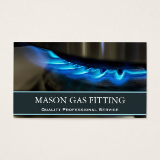 Gas Engineer / Fitter Photo Business Card