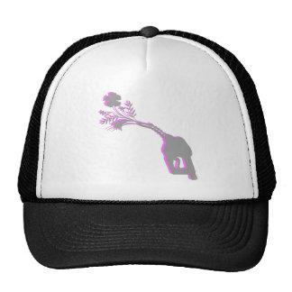 Gas Flowers grey pink Trucker Hats