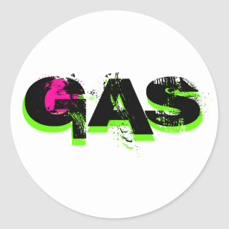GAS, GAS, GAS CLASSIC ROUND STICKER