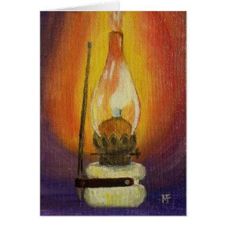 Gas Lamp Greeting Card