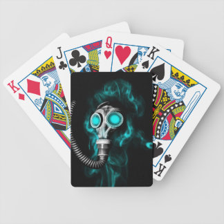 Gas mask bicycle playing cards