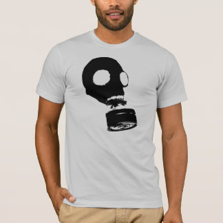 Gas Mask, Black T-Shirt