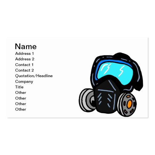 Gas Mask Business Card