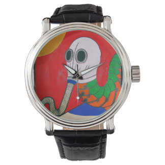 Gas Mask Caterpillar On Mushroom by KLM Wristwatches