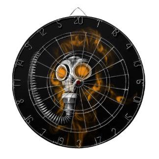 Gas mask dartboard
