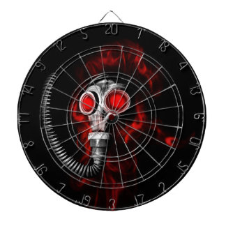 Gas mask dartboard