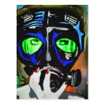 'Gas Mask Girl 2012' Postcard