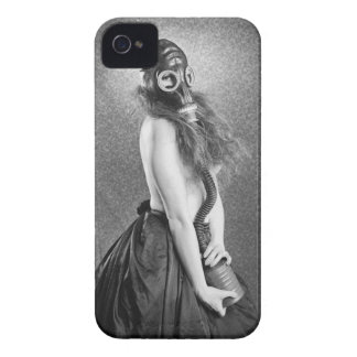 Gas  Mask Girl Case-Mate iPhone 4 Cases