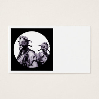 Gas Mask Girls in Purple Business Card