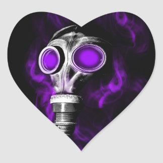 Gas mask heart sticker