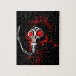 Gas mask jigsaw puzzle
