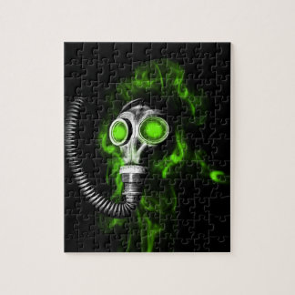 Gas mask jigsaw puzzle