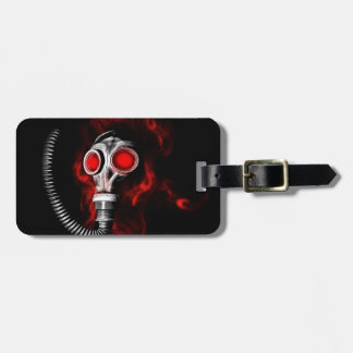 Gas mask luggage tag
