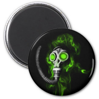 Gas mask magnet