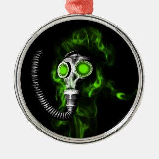 Gas mask metal ornament