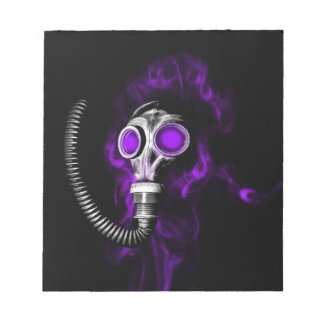 Gas mask notepad