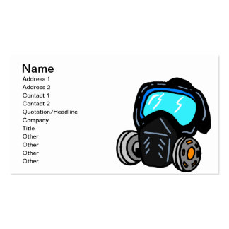 Gas Mask Pack Of Standard Business Cards