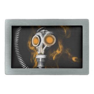 Gas mask rectangular belt buckles