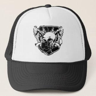 Gas Mask Skull Trucker Hat