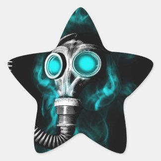 Gas mask star sticker