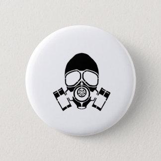 gas mask stencil logo 6 cm round badge