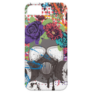 Gas Mask with Roses 5 Barely There iPhone 5 Case