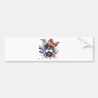Gas Mask with Roses 5 Bumper Sticker