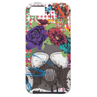 Gas Mask with Roses 5 Tough iPhone 5 Case