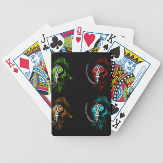 Gas masks bicycle playing cards
