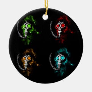 Gas masks ceramic ornament