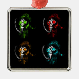 Gas masks metal ornament