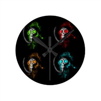 Gas masks round clock