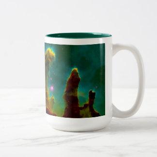 Gas Pillars in the Eagle Nebula (M16) Two-Tone Mug