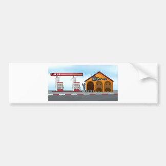 Gas station and garage bumper sticker