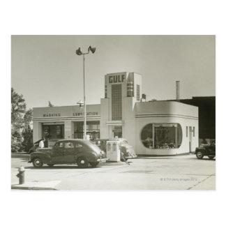 Gas Station Postcard